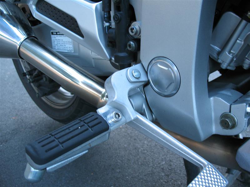 """I added a Motorcycle Larry footpeg lowering kit, however the pegs scrape too much now and I may only use them on long road trips.<br /> <br />  <a href=""""http://www.motorcyclelarry.com/Yamaha_index.aspx"""">http://www.motorcyclelarry.com/Yamaha_index.aspx</a>"""