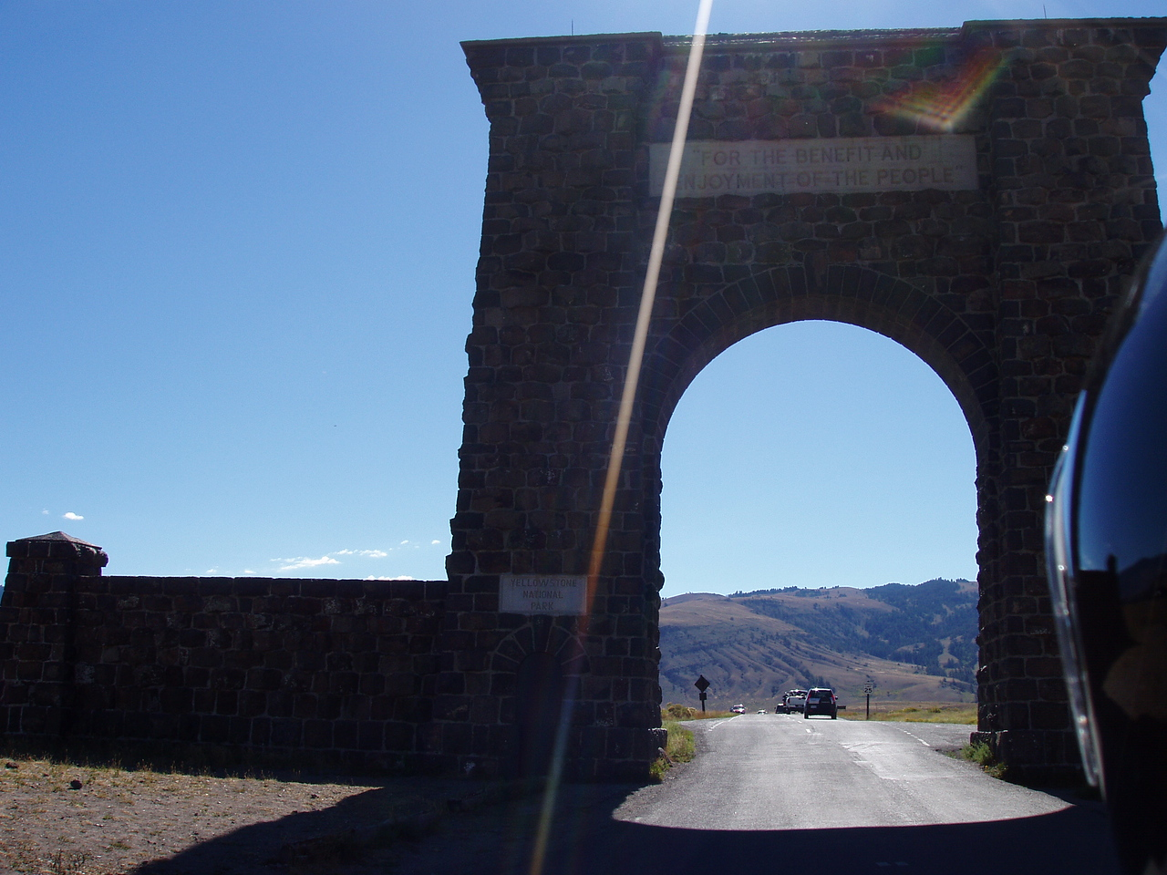 The famous arch...