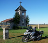 Belgique chapel.  Down on the Mississippi flats
