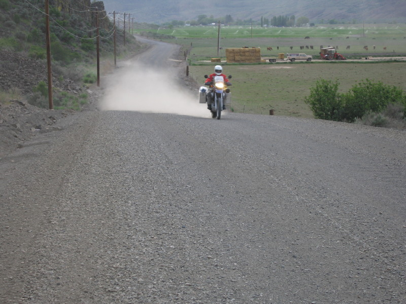 Kevin, kicking up dust on the way to Odessa.