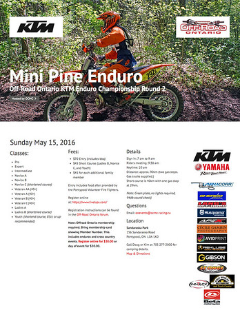 Mini Pine Enduro 2016