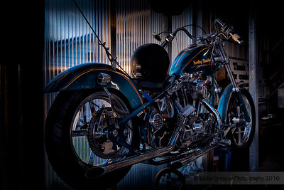 HD Bike at the Greenhouse Moto Cafe' 4-5-16