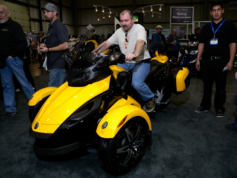 Can Am was well represented with show trikes and demo rides.