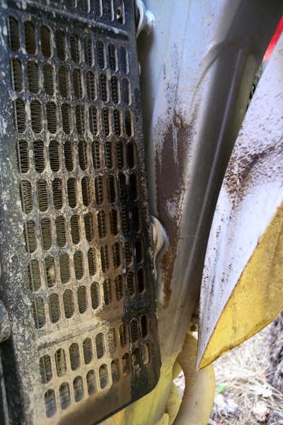 Radiator was leaking from a pin hole leak from the very start. Not enough to give me problems for the weekend though.