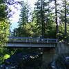 Don comes over the Mokelumne River bridge near Salt Springs.