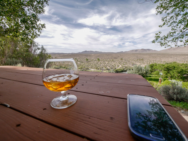 Makers Mark blends well with the scenery and just tastes better in the desert.