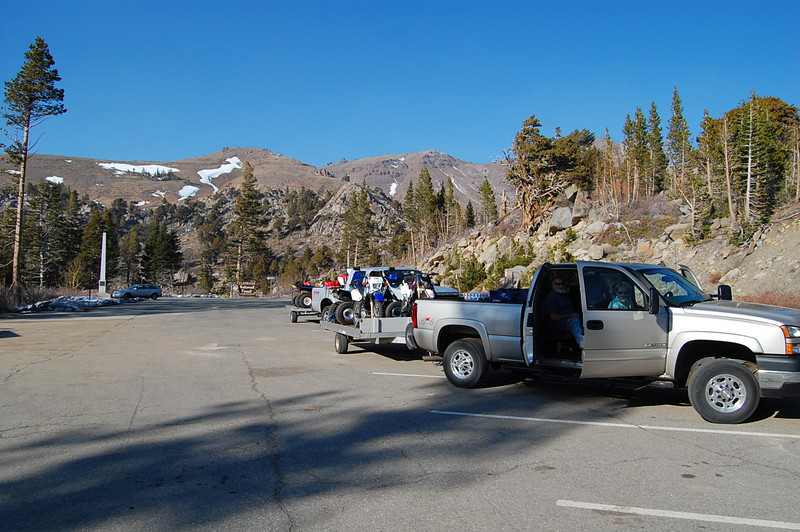 The required potty stop at Carson Pass.