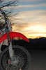 Mikes bike at sunset with a little fill-flash for detail.