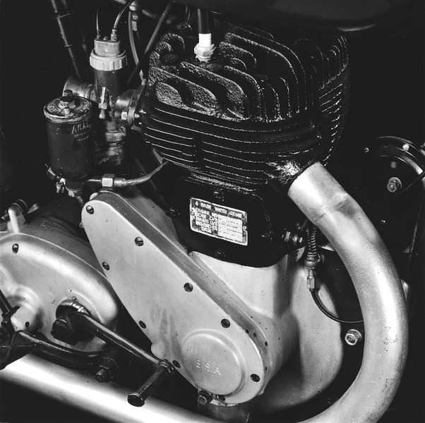 1940 BSA M20, closer view