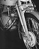 1950 Grey Flash 500, forks detail