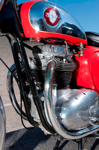 BSA Twin in red