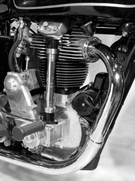 1939 Velocette 350 cc. B&W prints available.