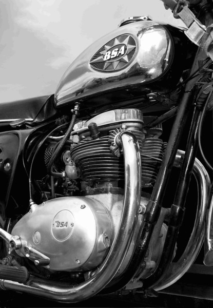 BSA twin. B&W prints available.