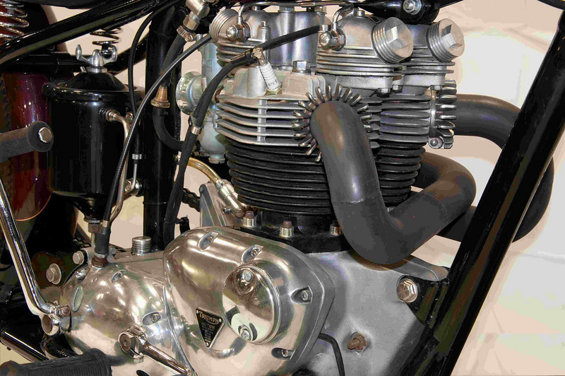 1972 Triumph 650 twin with straight pipes