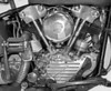 1947 Harley-Davidson Knucklehead, 74 cubic inch. B&W prints and cards available.