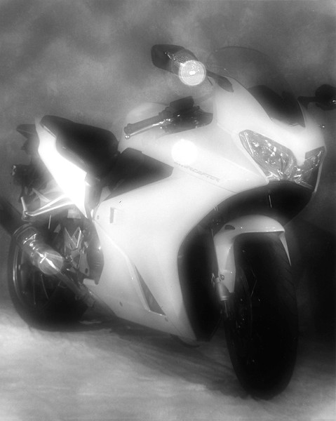 Honda VFR 800 as photographed by zoneplate camera