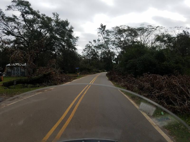 storm damage in Perdido AL