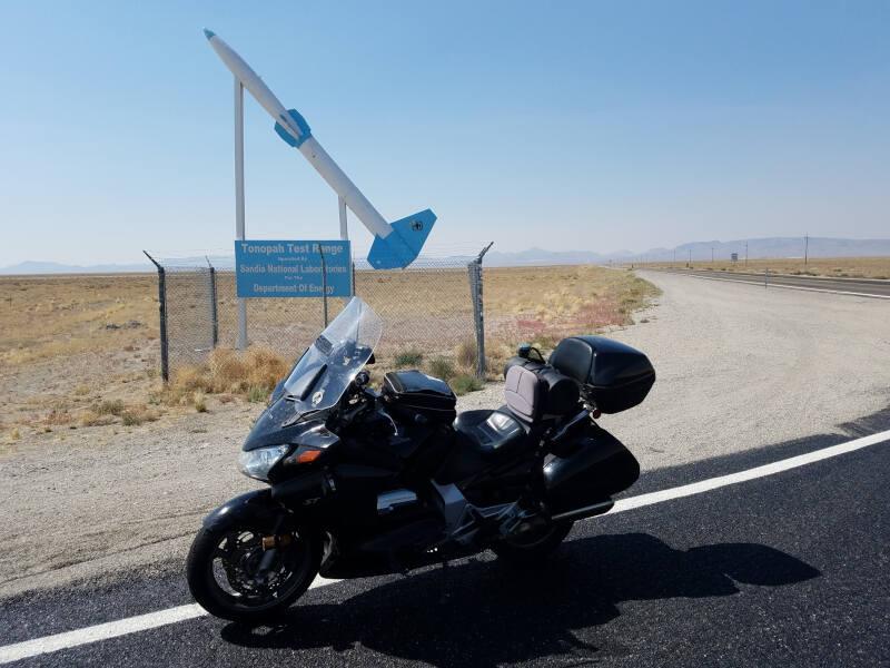 Tonopah Test Range sign