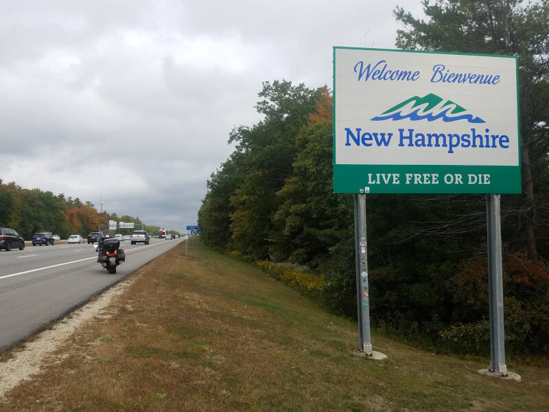 New Hampshire state line