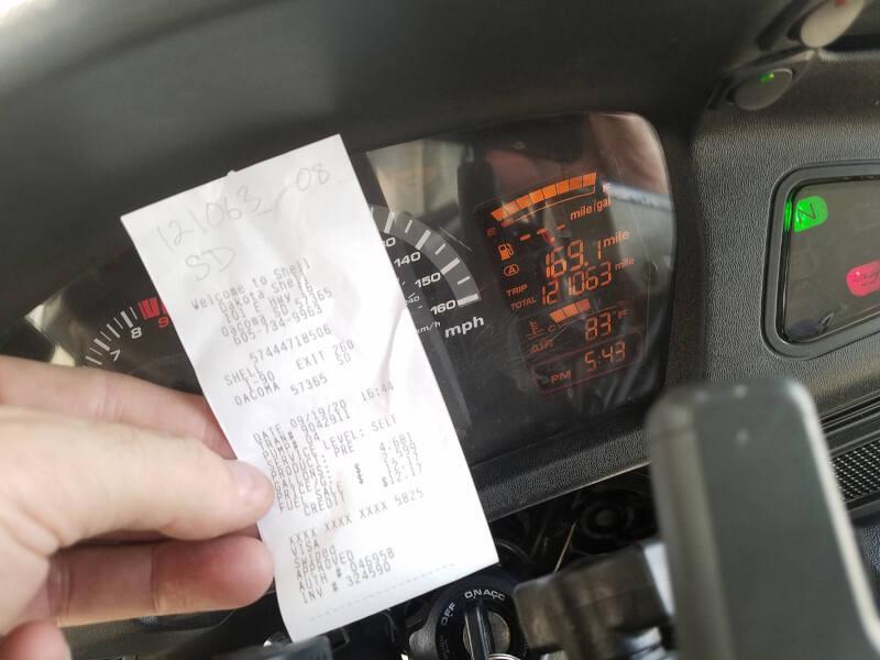 South Dakota receipt