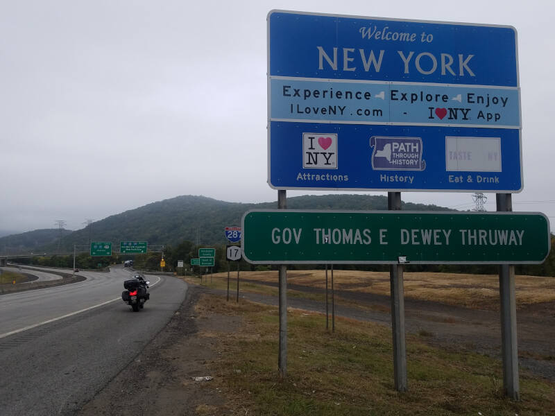 New York state line