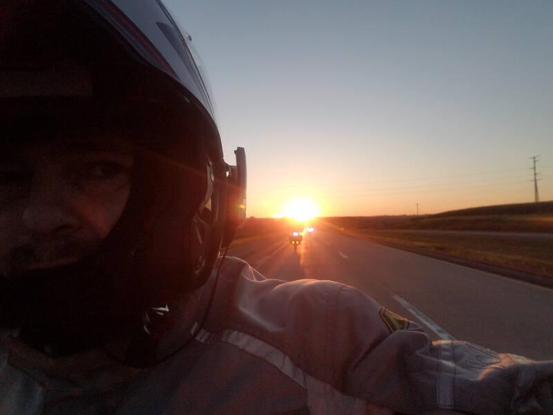 sunrise in Iowa