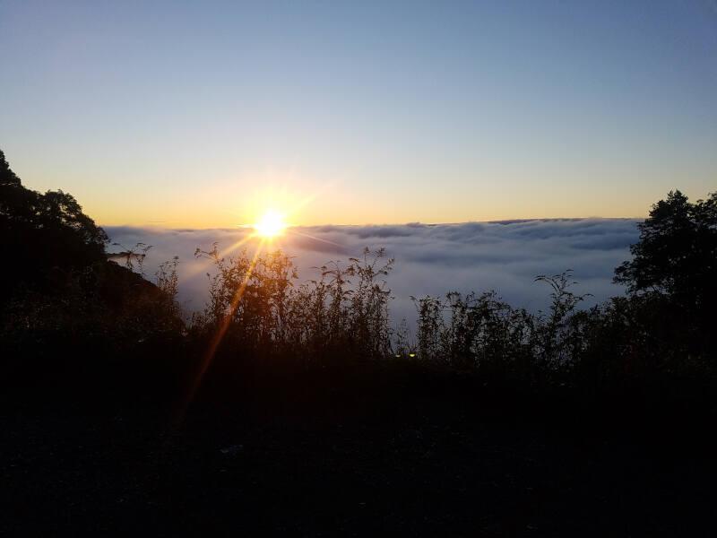 sunrise on Black Mountain summit