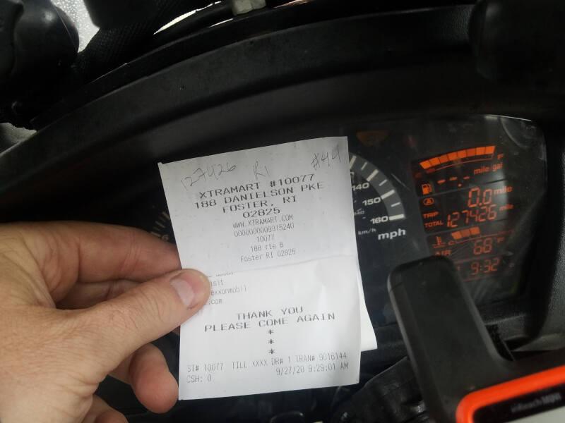 Rhode Island receipt
