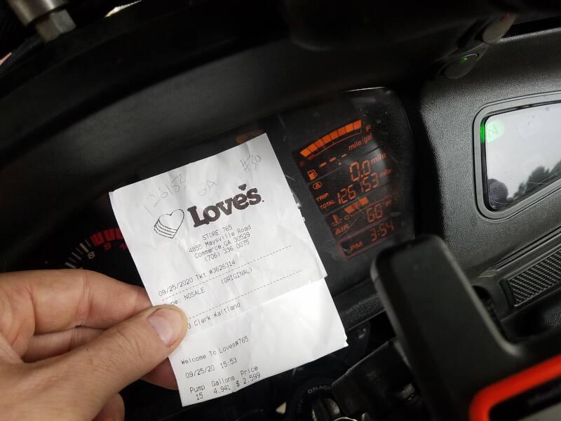 Georgia receipt