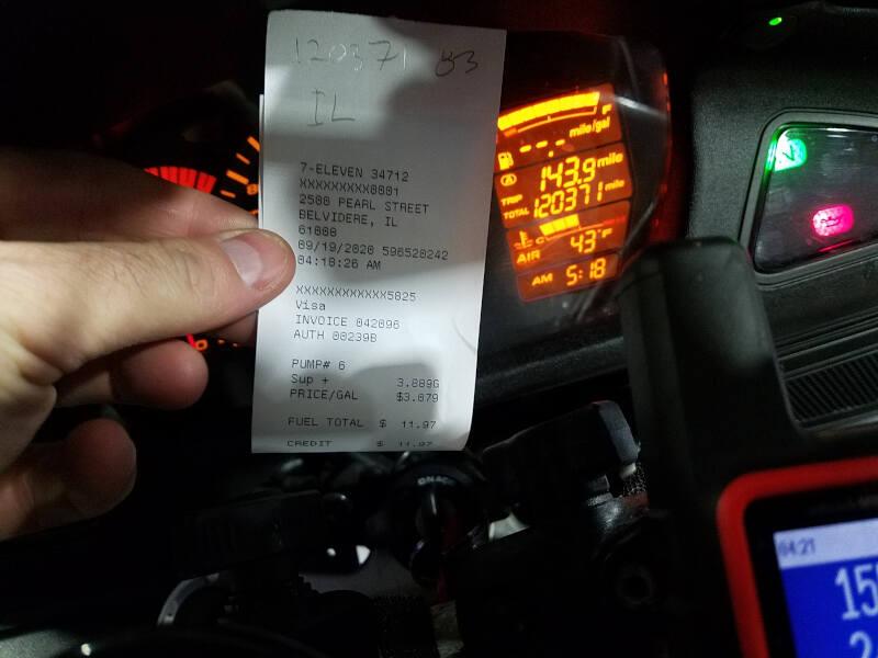 Illinois receipt