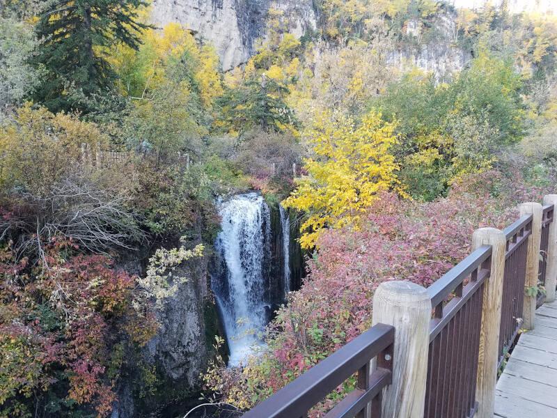 Roughlock falls uppermost cascade