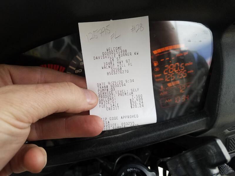 Florida receipt