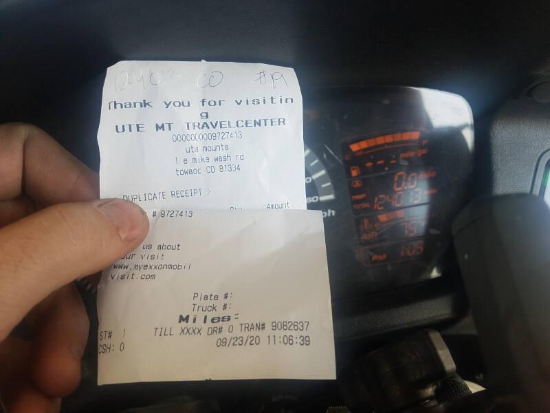 Colorado receipt