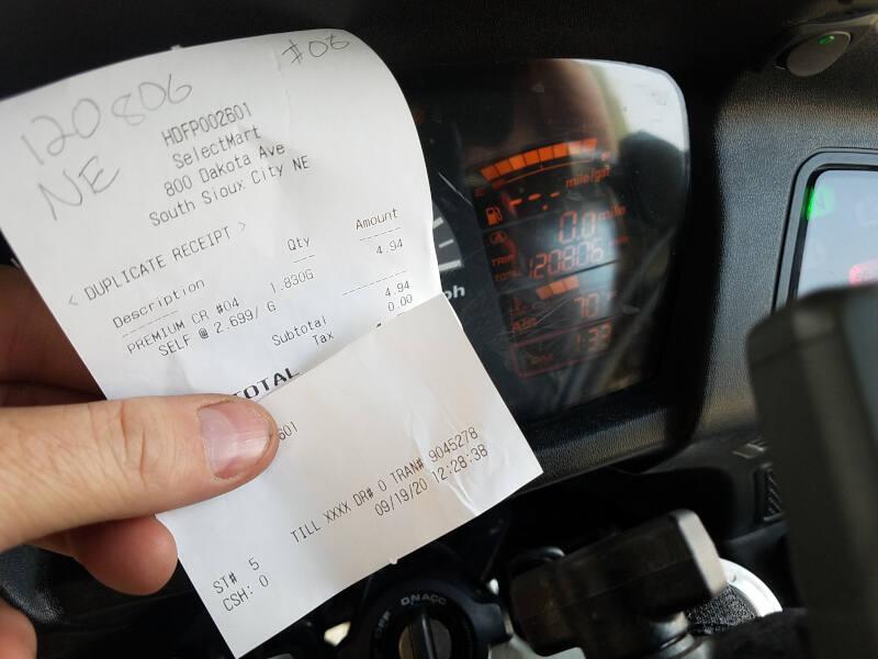 Nebraska receipt