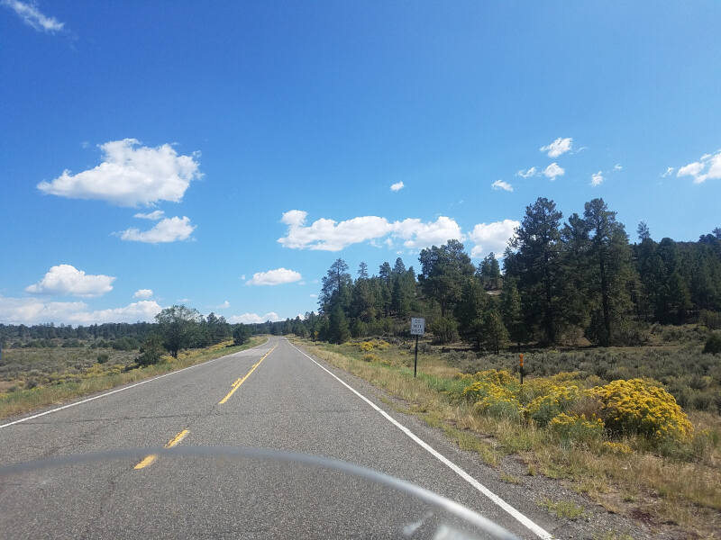 US 64 on Apache reservation