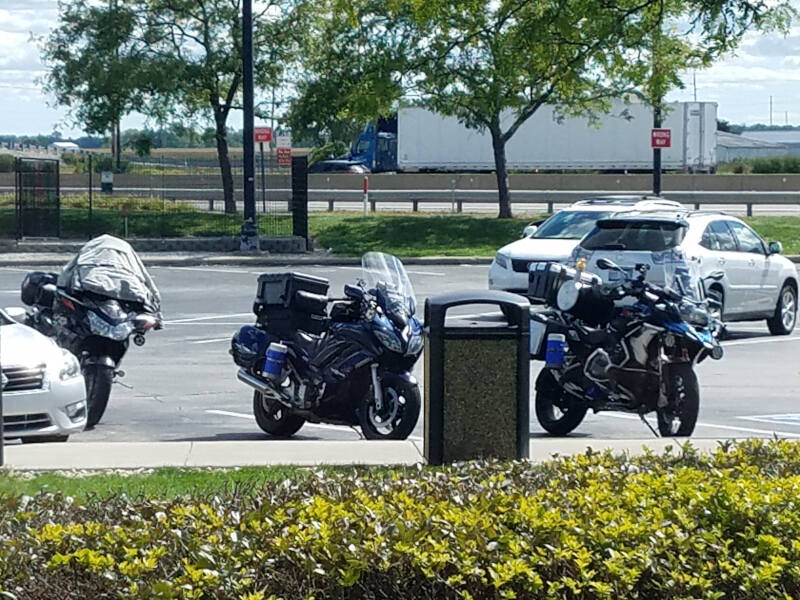 bikes at rest area