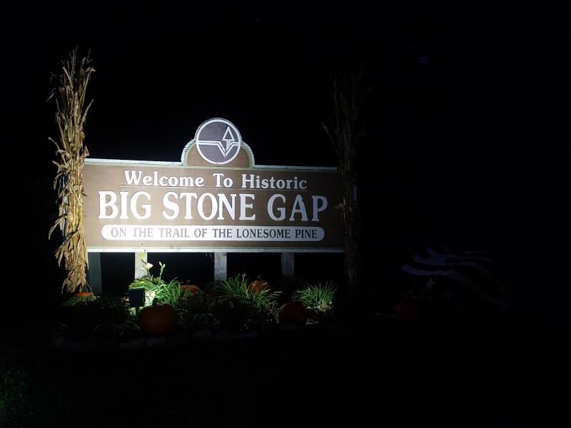 Big Stone Gap welcome sign