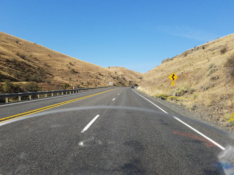 climbing from Snake River valley