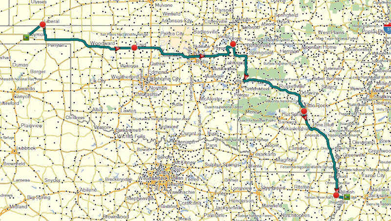 map of day 6 route