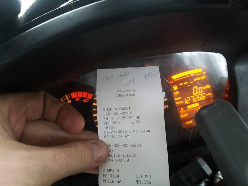 New York receipt