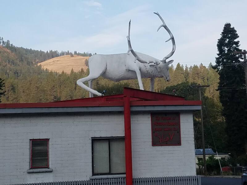 white elk sculpture