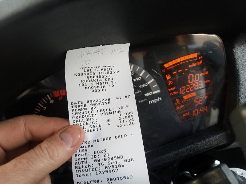 Idaho receipt