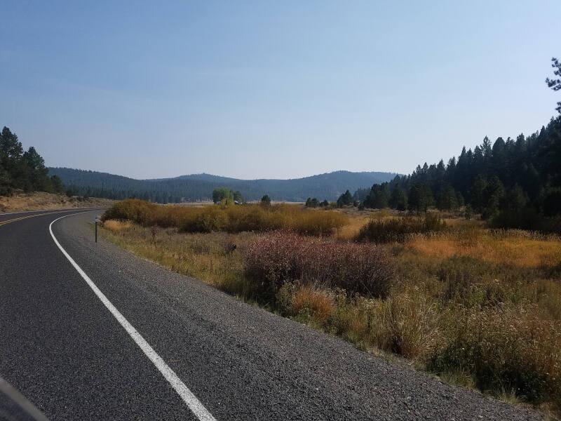 US 395 along Silvies River