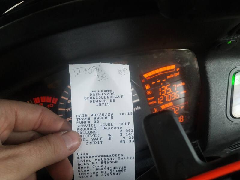 Delaware receipt