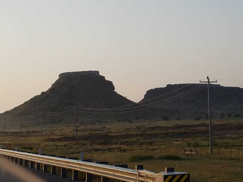 buttes in Oklahoma