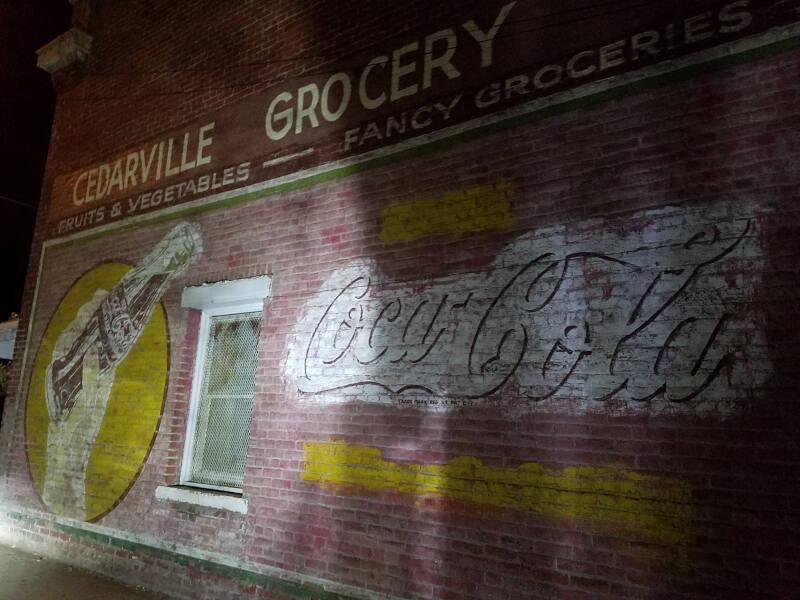 Coca Cola mural in Cedarville