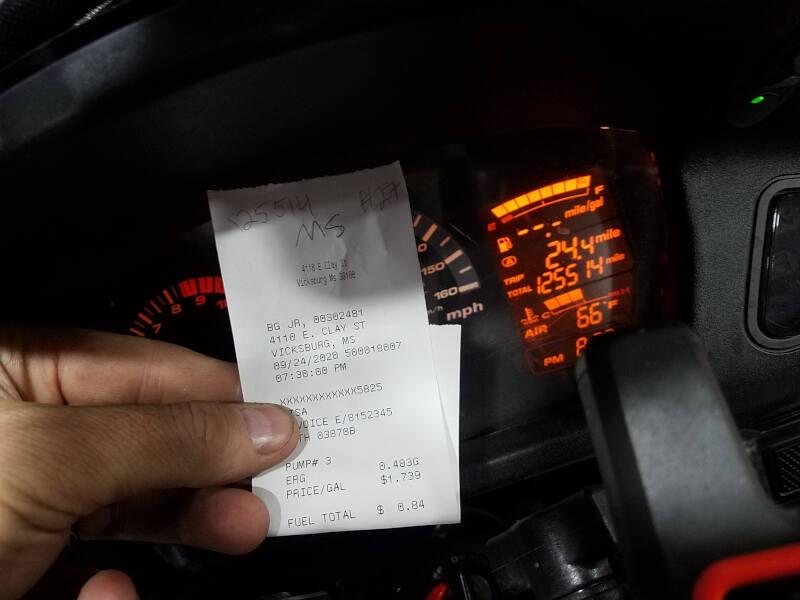 Mississippi receipt