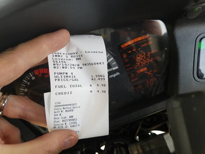 Minnesota receipt