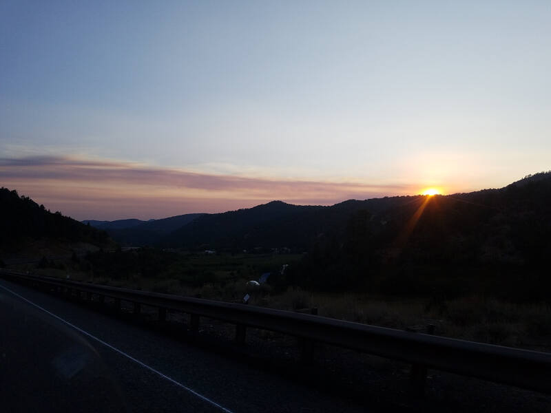 sunset on US 89