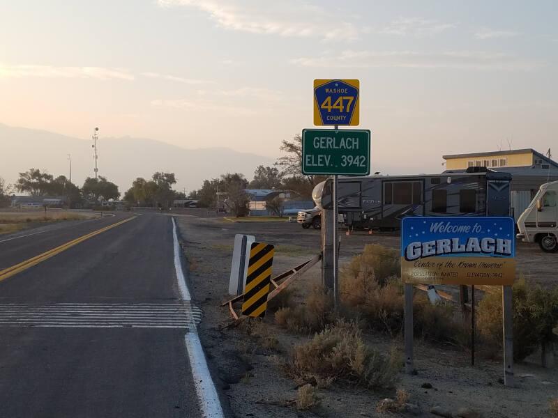 Gerlach town limit